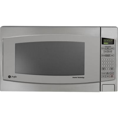 Profile 2.2 cu. ft. Countertop Microwave in Stainless Steel with Defrost and Sensor Controls