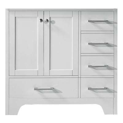 Clariette 35.2 in. W x 21.7 in. D x 33.5 in. H Bath Vanity Cabinet Only in White