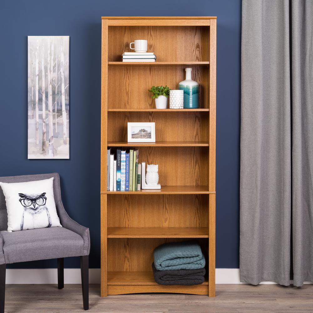House Bookshelf: SAUDER Barrister Lane Salt Oak Open Bookcase-414726