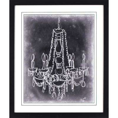26 in. x 22 in. Sketched Chandelier Printed Framed Wall Art