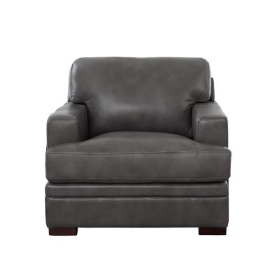 Georgia Gray 100% Leather Chair