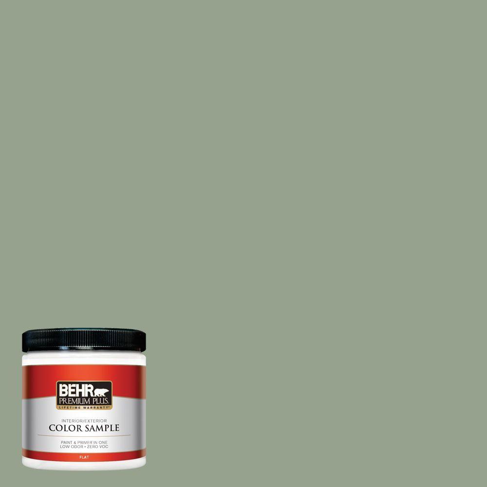BEHR Premium Plus 8 oz. #N390-4 Bitter Sage Interior/Exterior Paint Sample