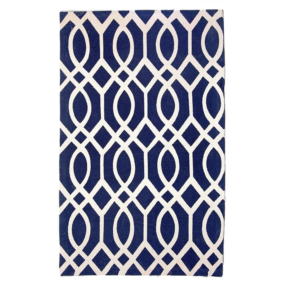 Safavieh Cedar Brook Navy/Ivory 2 ft. 3 in. x 3 ft. 9 in. Runner