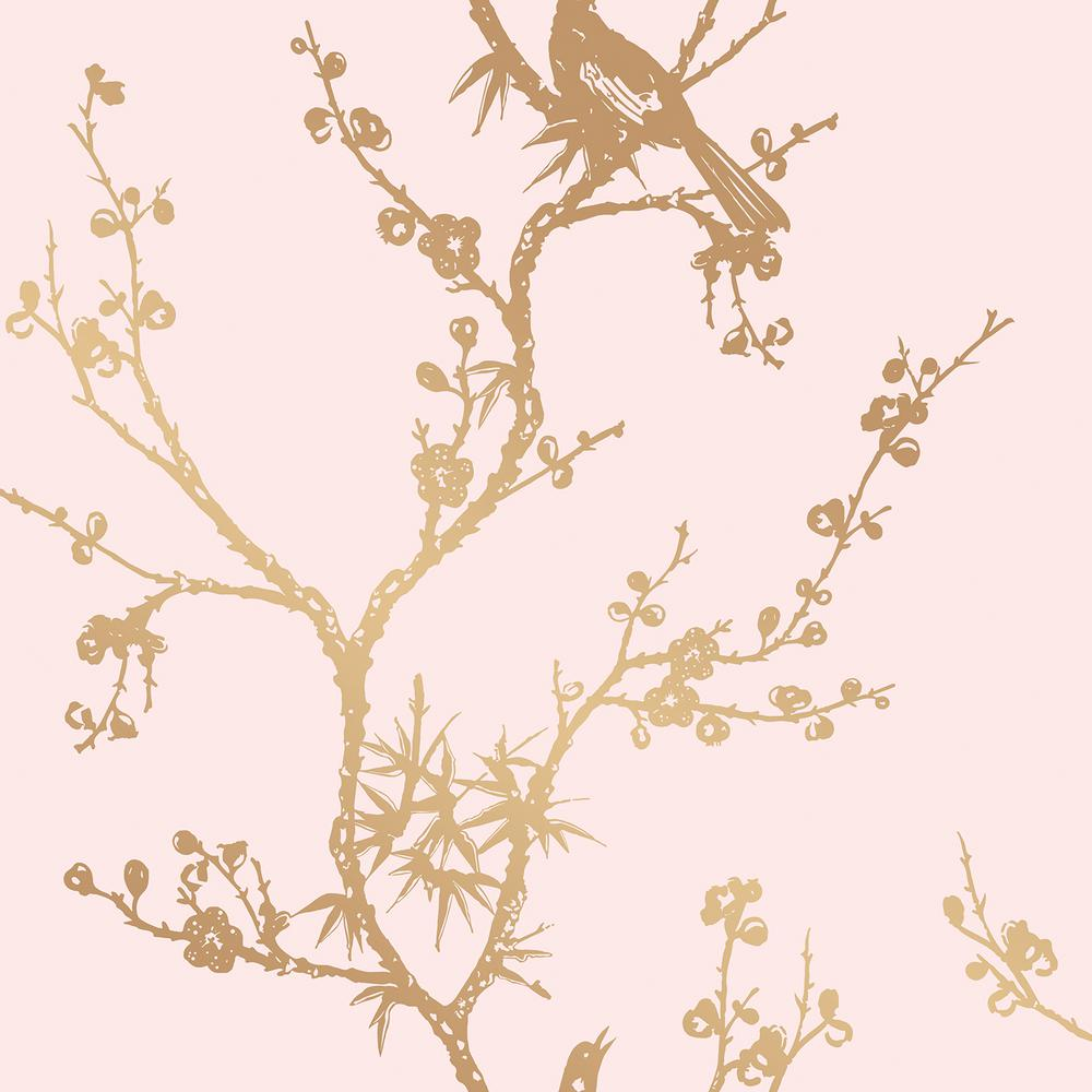 Tempaper cynthia rowley for tempaper bird watching rose for Rose adesive