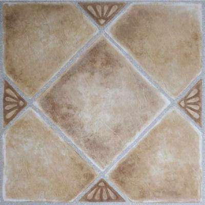 Nexus Beige 12 in. x 12 in. Peel and Stick Diamond Pattern Vinyl Tile (20 sq. ft. / case)