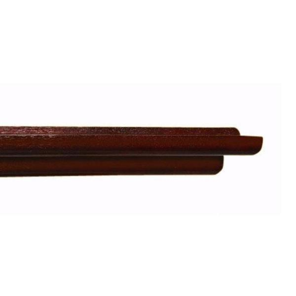 undefined 48 in. W x 4.5 in. D x 1.5 in. H Floating Mahogany Display Ledge Decorative Shelf