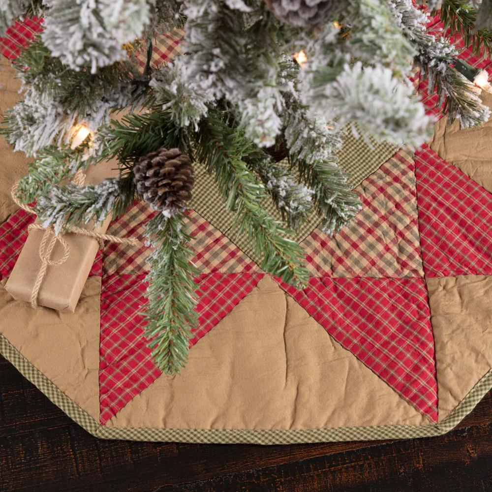 Primitive Christmas Tree.Vhc Brands 21 In Dolly Star Natural Tan Primitive Christmas Decor Tree Skirt