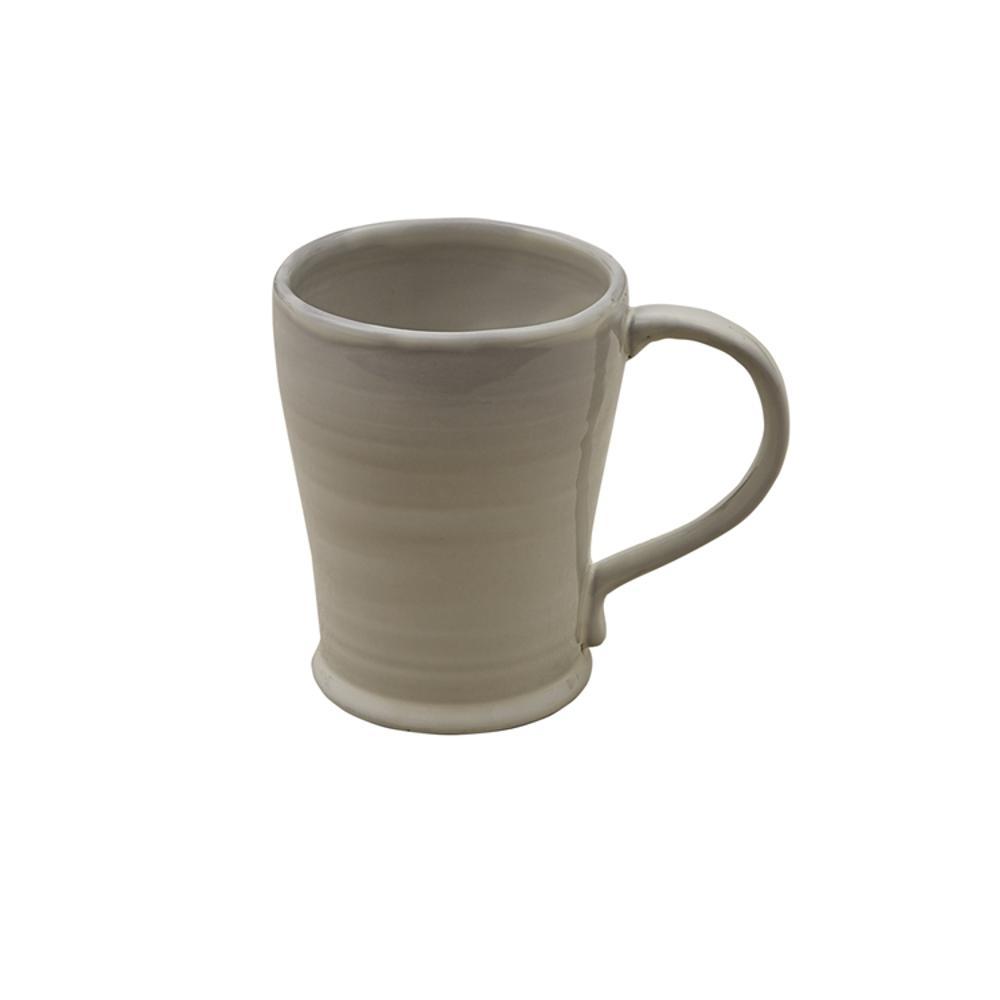 Logan 12 oz. Taupe Ceramic Coffee Mug (Set of 4)