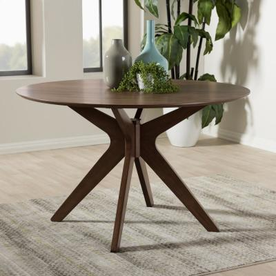 Monte Medium Brown Finished Wood Dining Table