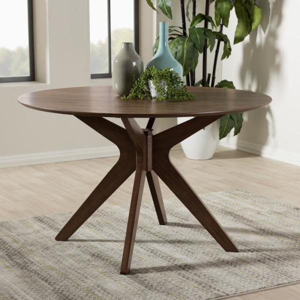 Baxton Studio Monte Medium Brown Finished Wood Dining Table 28862-7175-HD