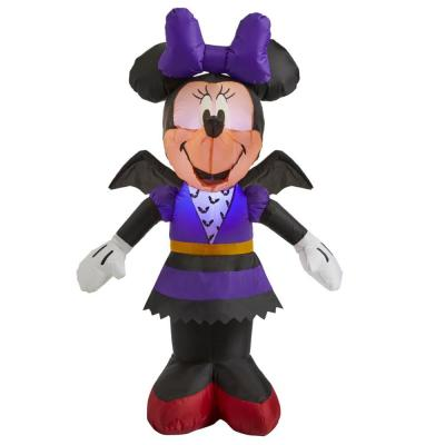 3.5 ft. Minnie Mouse in Bat Costume Halloween Inflatable