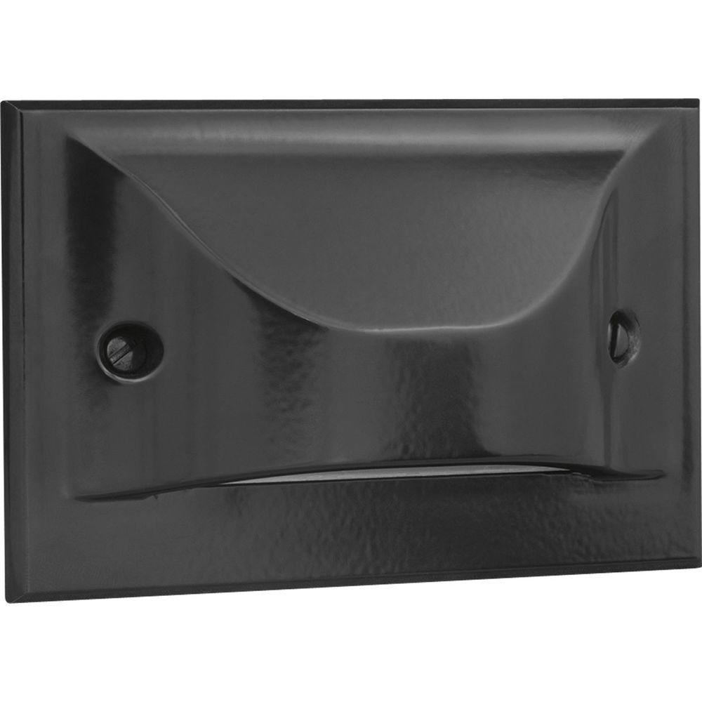 Lighting Basement Washroom Stairs: Progress Lighting 1-Light Black LED Step Light/Wall Light