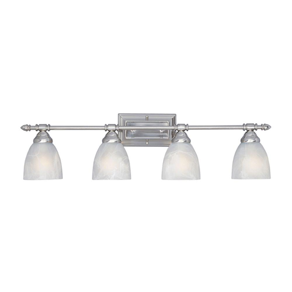Designers Fountain Apollo Collection 4 Light Satin Platinum Wall Mount Vanity
