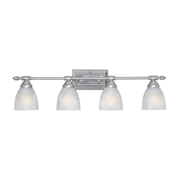 Apollo Collection 4-Light Satin Platinum Wall Mount Vanity Light