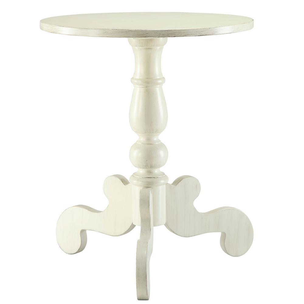 Freida Antique White Side Table
