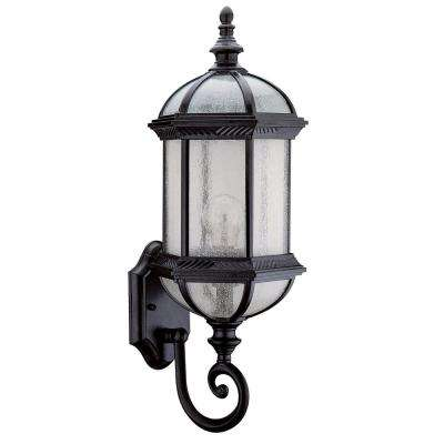 Abrielle 1-Light Black Outdoor Wall Mount Sconce