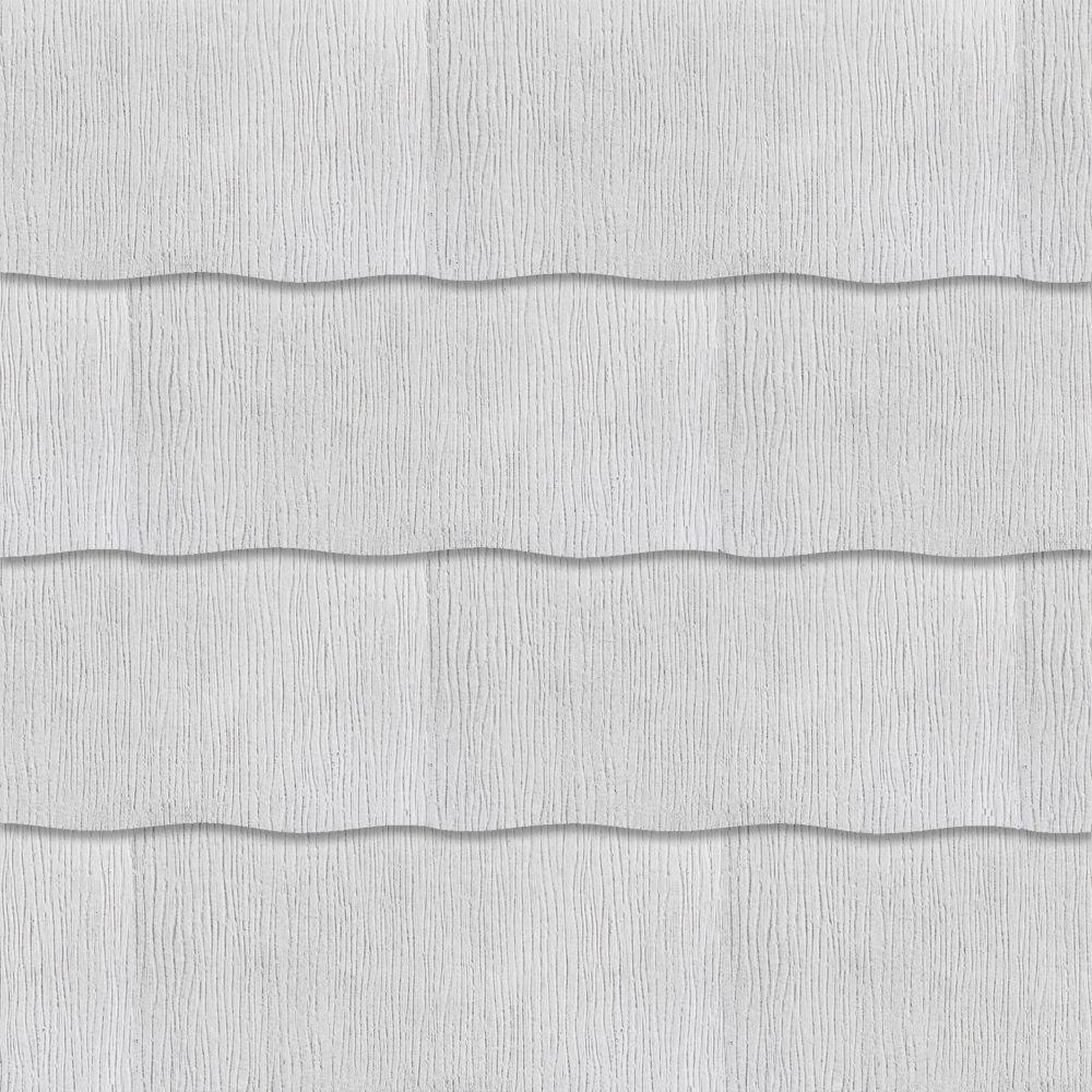 GAF WeatherSide Purity 12 in  x 24 in  Cement Fiber Wavy Shingle