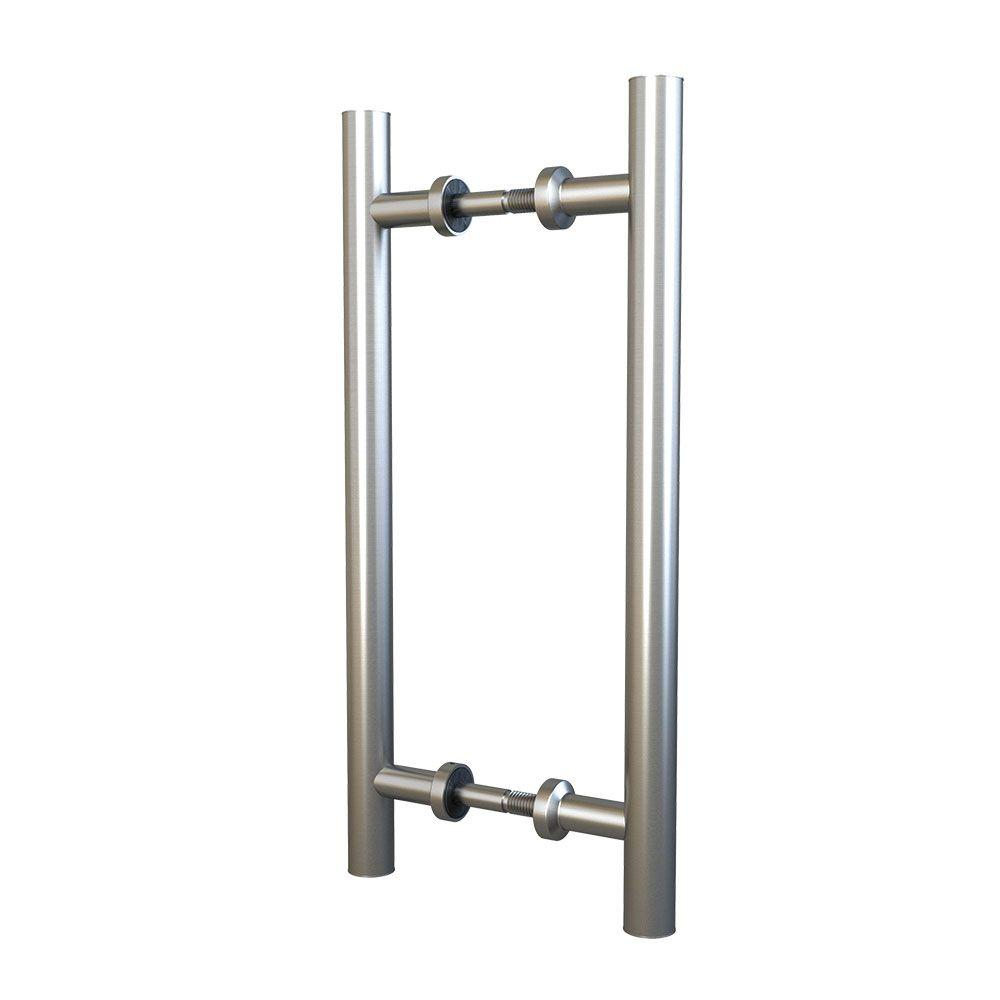 American Pro Decor 11-13/16 in. Stainless Steel Dual Mount Double Sided Drawer Center-to-Center Pull for Wood or Glass Doors