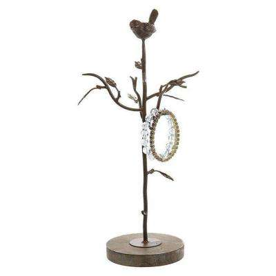 Alouette Rust 15.5 in. H Jewelry Tree