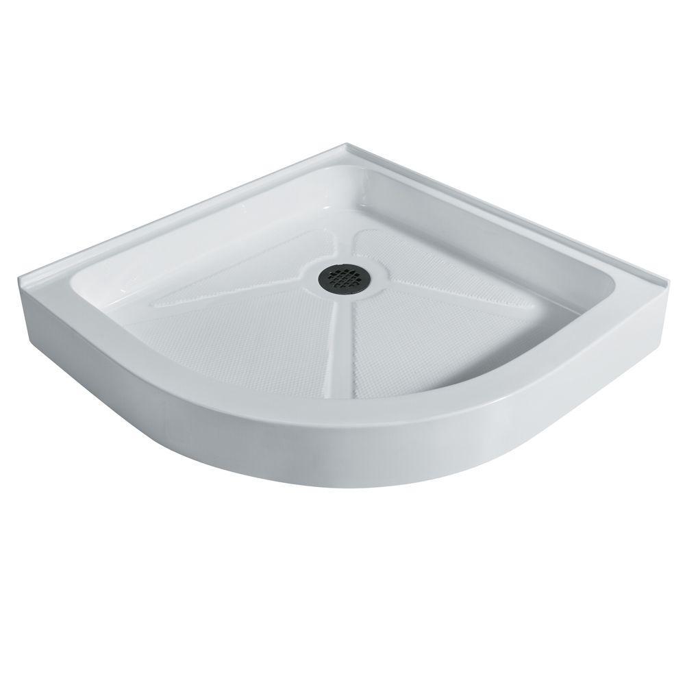 Vigo 36 in. x 36 in. Neo-Round Shower Tray in White