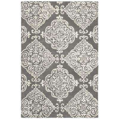 Glamour Dark Gray/Ivory 4 ft. x 6 ft. Area Rug