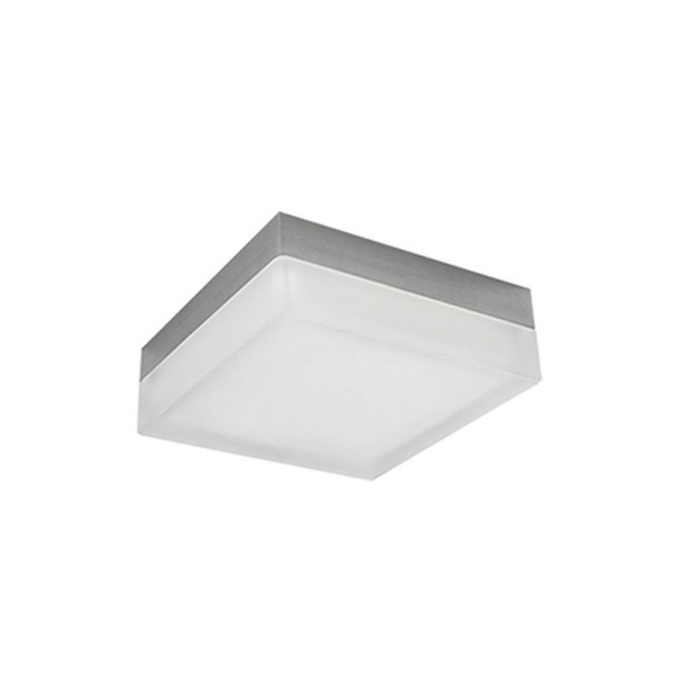 Oxford Brushed Nickel 40-Watt Equivalence Integrated LED Ceiling Flushmount