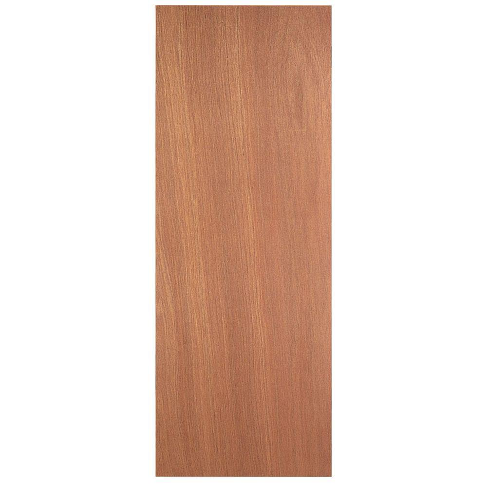 36 in x 80 in smooth flush hardwood solid core for Solid core vs solid wood doors