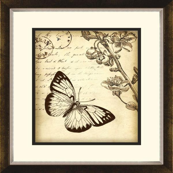 14 5 In X 16 5 In Botanical Butterfly B Framed Wall Art 1 10882b