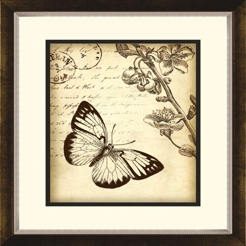 "null 14.5 in. x 16.5 in. ""Botanical Butterfly B"" Framed Wall Art"