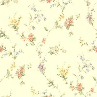 Suzanne Taupe Floral Trail Taupe Wallpaper Sample