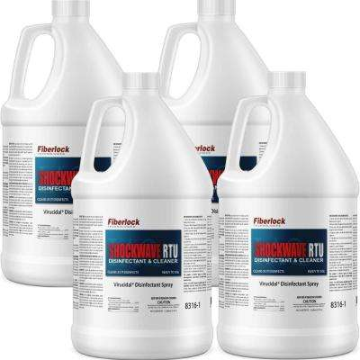 1 gal. EPA Reg. Cleaner & Disinfectant Shockwave RTU for Pourous/Non-Pourous Multi-Surface Prep (4 Pack)