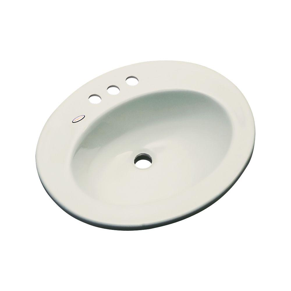 Thermocast Austin Drop-In Bathroom Sink in Tender Gray