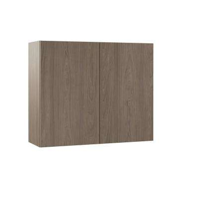 Edgeley Assembled 36x30x12 in. Wall Kitchen Cabinet in Driftwood
