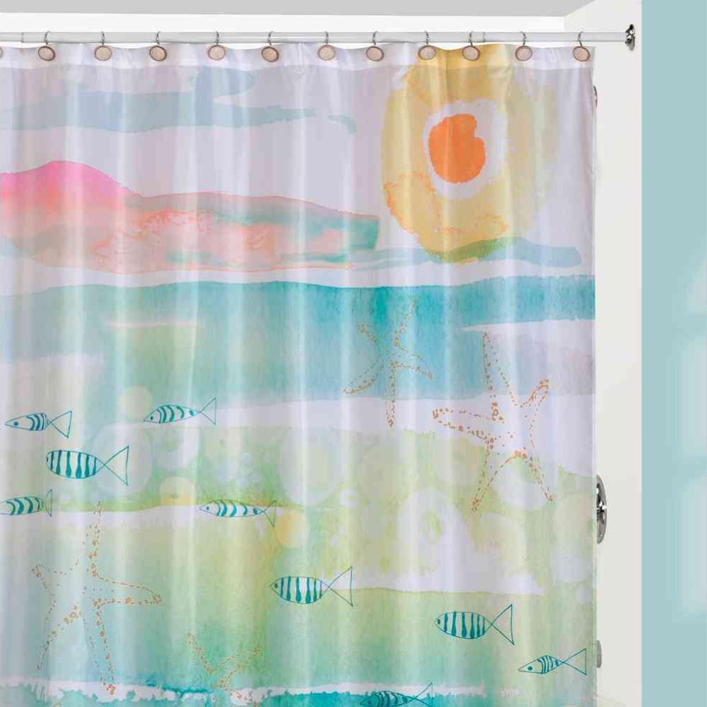 Creative Bath Shadow Leaves 72 In