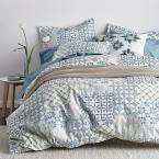 Whistler Patch Multicolored Geometric Organic Cotton Percale Queen Duvet Cover