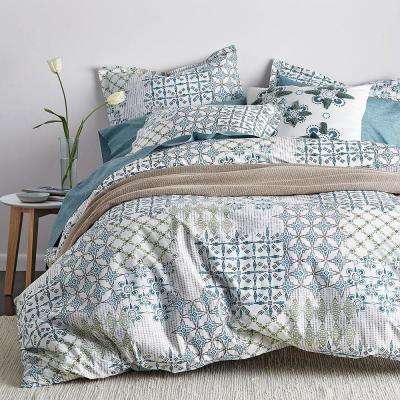 Whistler Patch Organic Queen Duvet Cover
