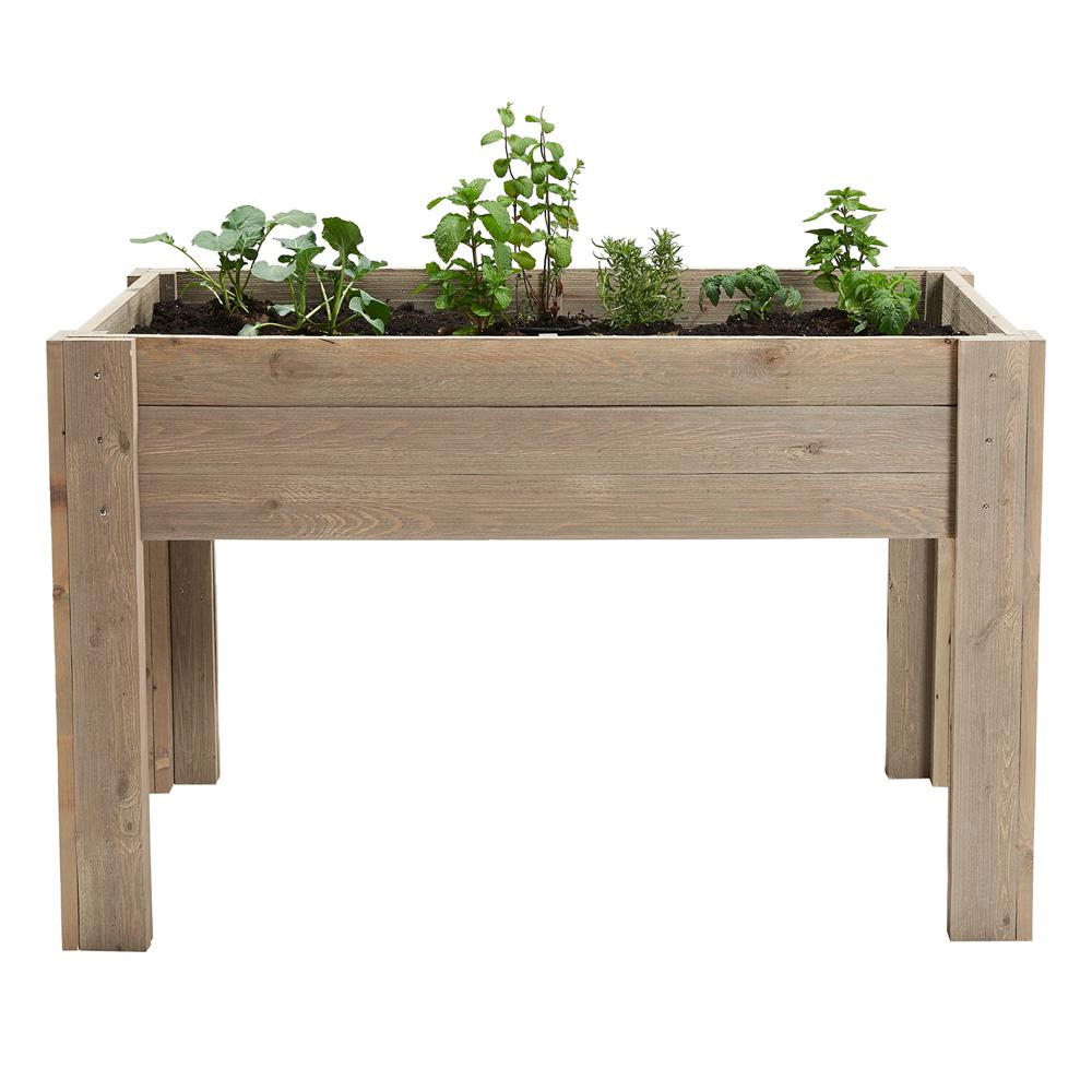 Outdoor Essentials 24 In. X 48 In. Rustic Elevated Garden Planter Kit