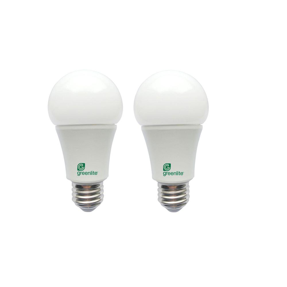 Greenlite 60 Watt Equivalent A19 Omni Directional Dimmable LED Light Bulb  In Bright White