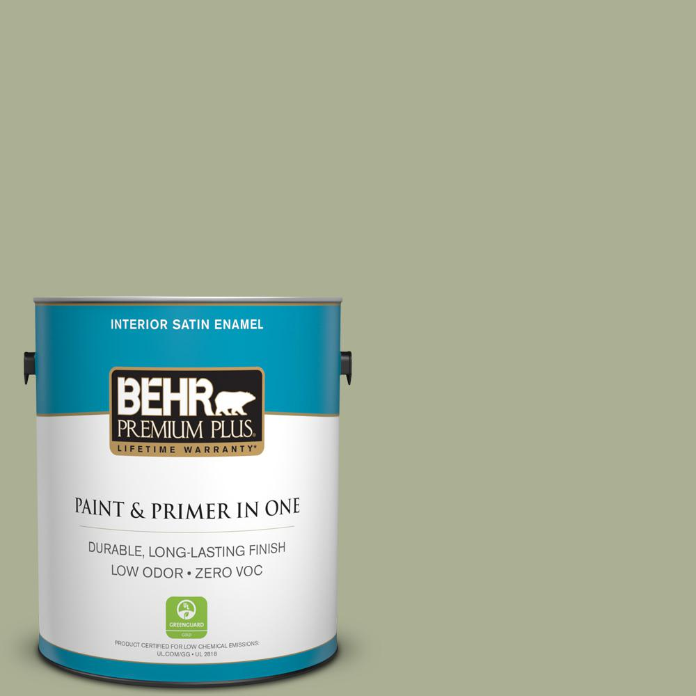 1 gal. #PPU10-06 Spring Walk Zero VOC Satin Enamel Interior Paint