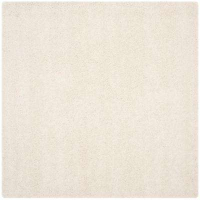 Milan Shag Ivory 10 ft. x 10 ft. Square Area Rug