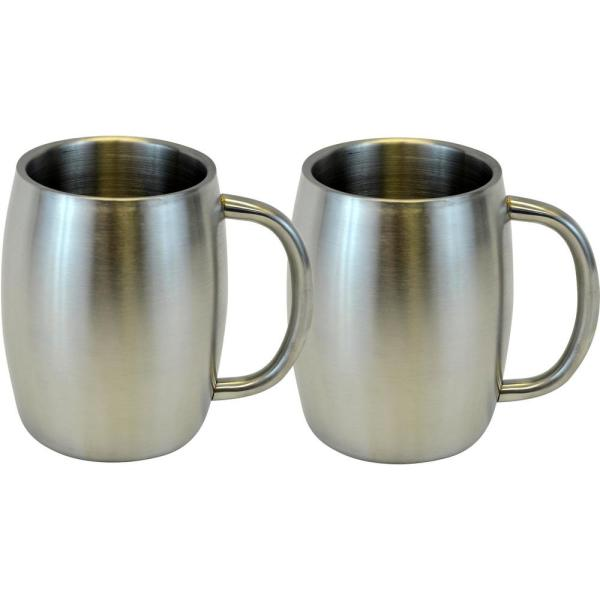 Southern Homewares 14 oz. Silver Stainless Smooth Double Wall Steel