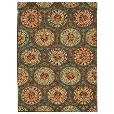 Amias Medallion Gray 7 ft. 6in. x 10 ft. Area Rug