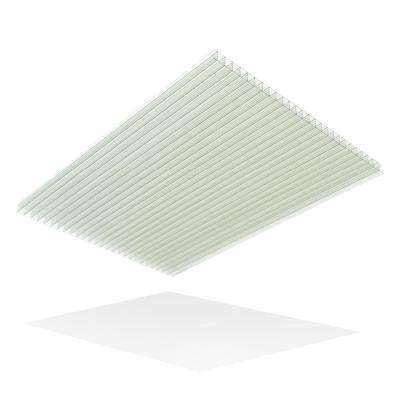 Thermoclear 24 in. x 48 in. x 1/4 in. Clear Multiwall Polycarbonate Sheet (5-Pack)