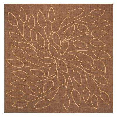 Persimmon Cocoa 8 ft. Square Area Rug