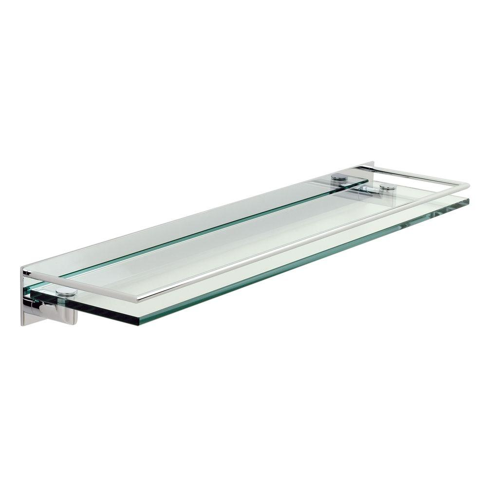 Glass bathroom shelf with rail - Ginger Surface 24 In L X 2 2 In H X 5 In Gallery