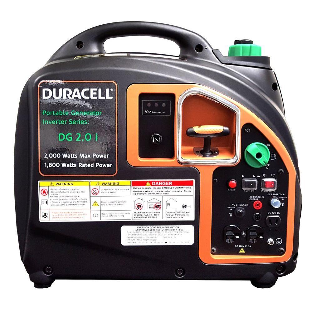 Duracell 2 000 Watt Gas Powered Recoil Start Portable