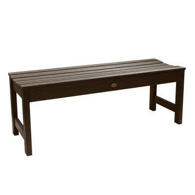 Lehigh 48 in. 2-Person Weathered Acorn Recycled Plastic Outdoor Picnic Bench