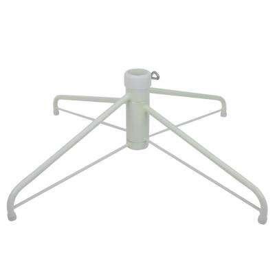 White Metal Christmas Tree Stand for 12 ft. Artificial Trees