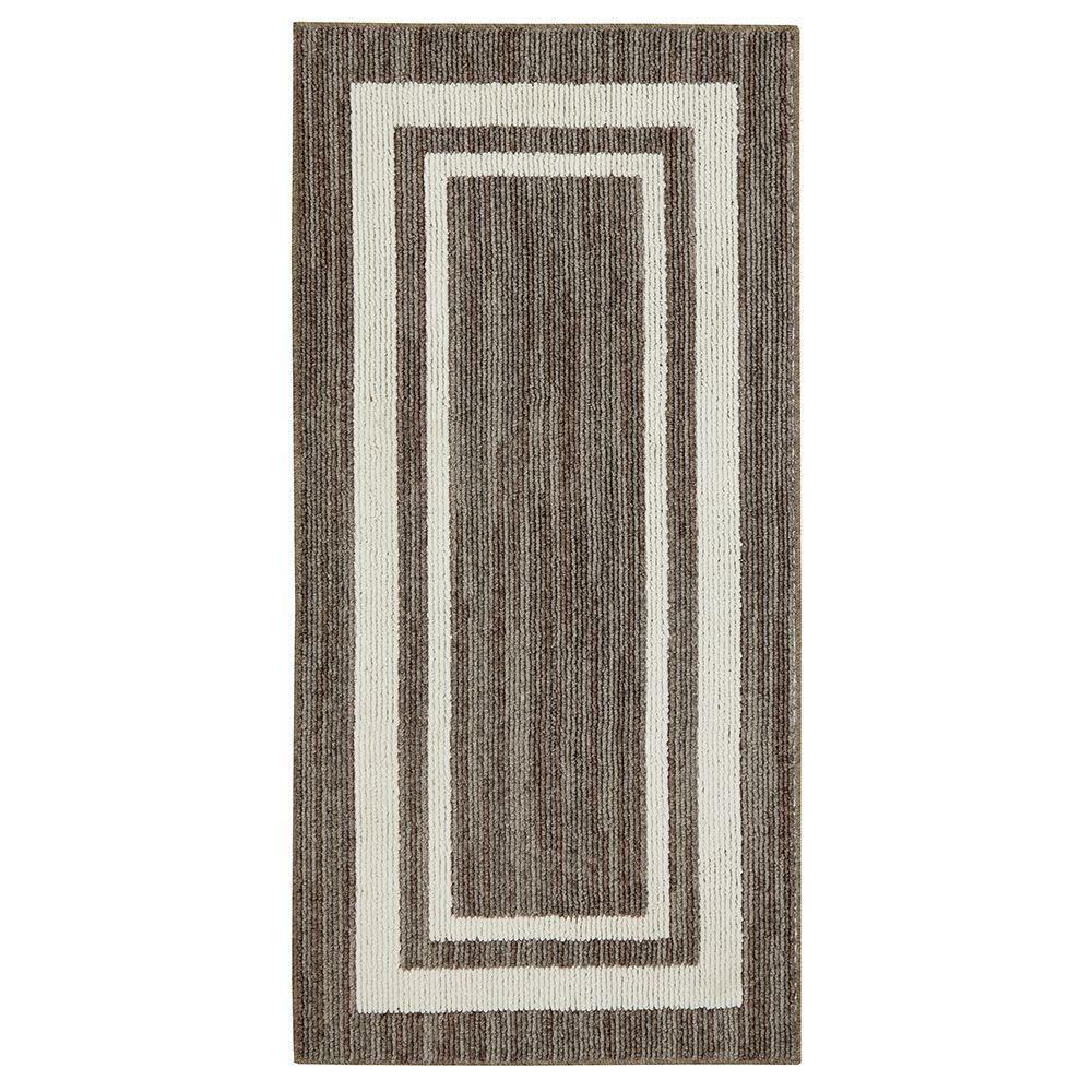 Border Loop Taupe Cream 8 Ft X 10 Area Rug 511869 The Home Depot