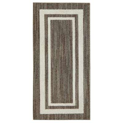 Border Loop Taupe Cream 2 ft. x 4 ft. Scatter Rug